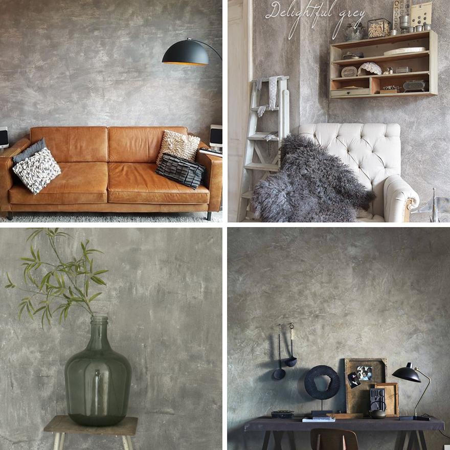 Betonlook-verf-muur-sfeerfoto