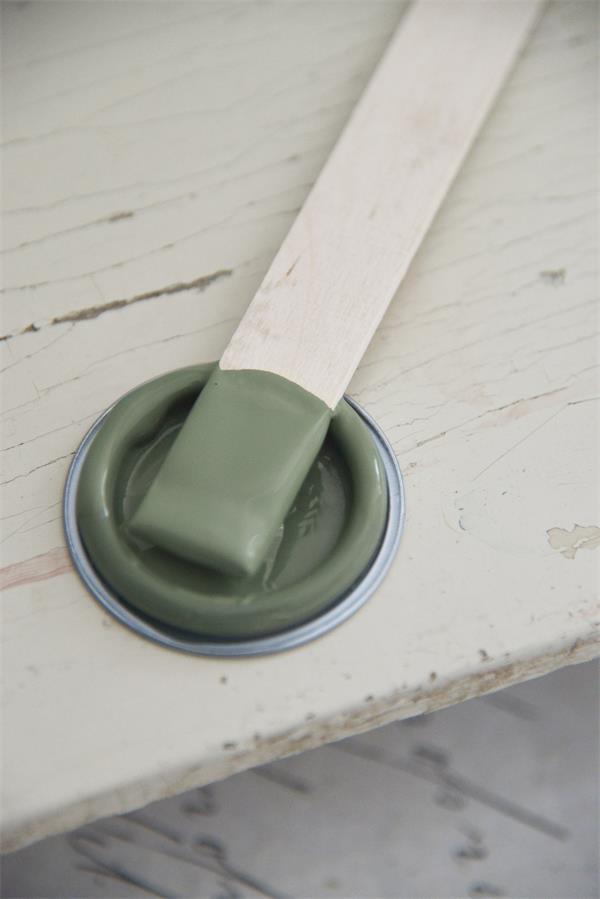 Vintage paint groene krijtverf mat dusty olive 100 for Grijs groene muurverf