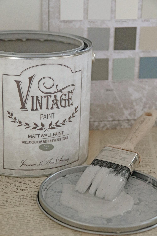 vintage paint grijze krijtverf mat warm grey 700 ml