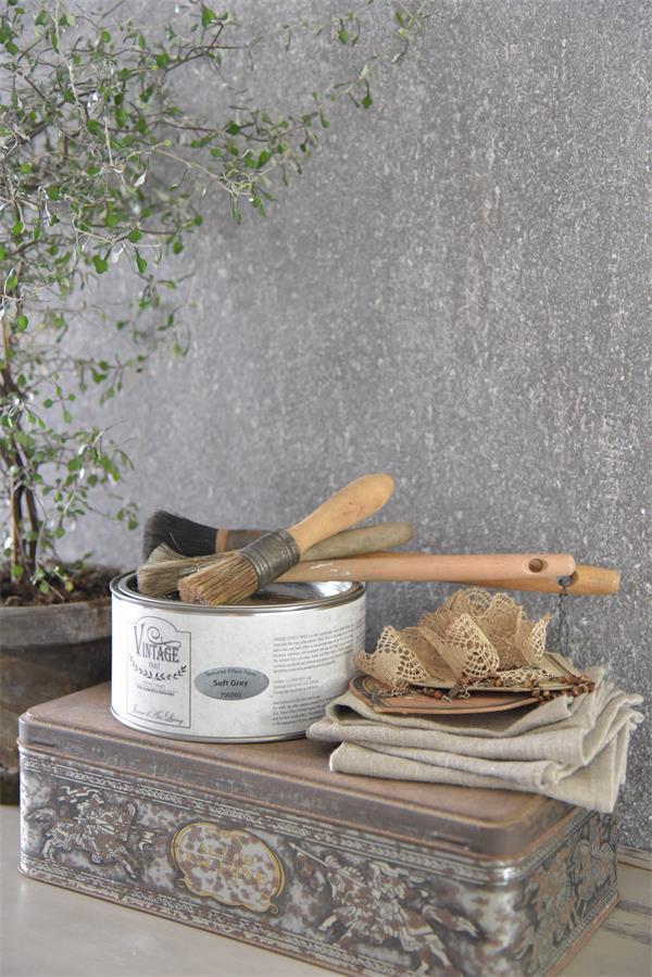 In 2 stappen een betonlook muur my industrial interior for Betonlook verf