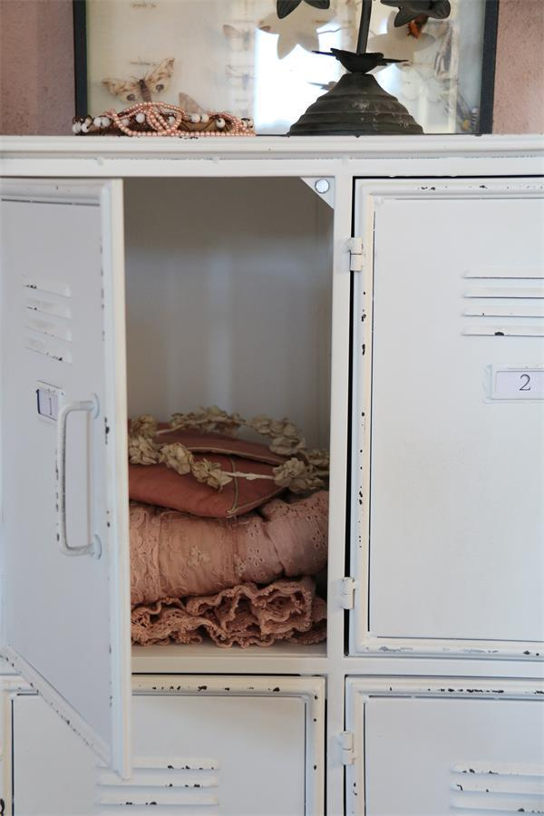 Industriële Kast Metalen Witte Lockerkast 90x125 Cm