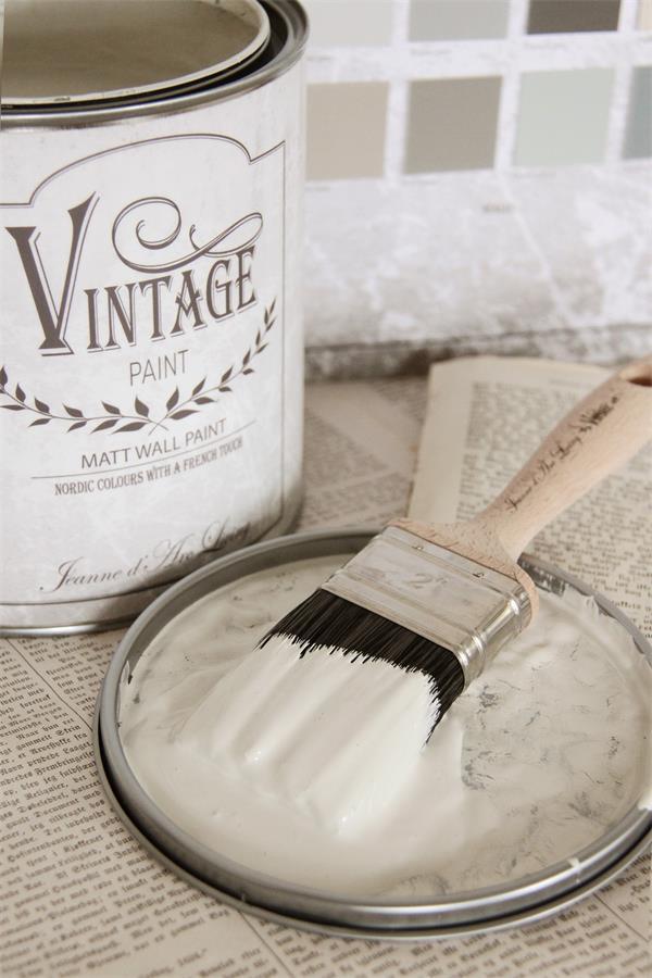 Vintage Paint - Muurverf / Krijtverf Mat - Warm Cream - 2,5 liter ...