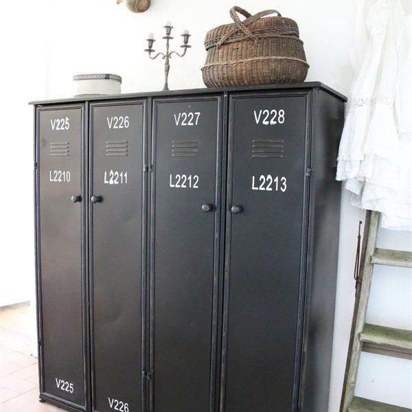 Product-7-Zwarte-Locker-4-deuren-industrieel-interieur-1
