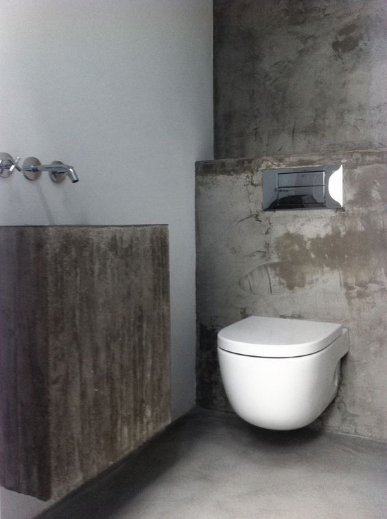betonlook badkamer betonlook toilet inspiratie my industrial interior. Black Bedroom Furniture Sets. Home Design Ideas