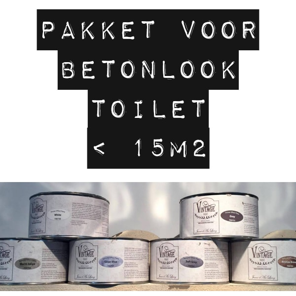 Basispakket betonlook verf voor een betonlook toilet - Verf wc ...