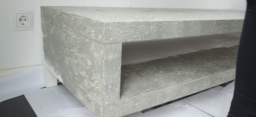 Diy betonlook tv meubel hoe maak je een betonlook tv for Betonlook verf