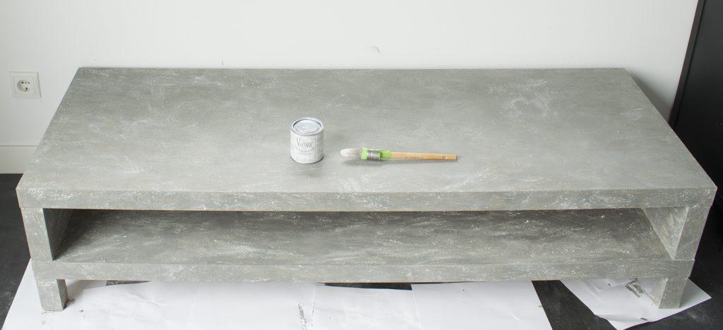 Krasvaste verf voor tafel awesome ut stilleven pu vernis for Betonlook verf praxis