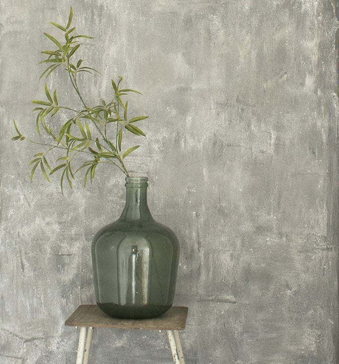 Grijs groen verf excellent perfection muurverf mat sea for Betonlook verf praxis