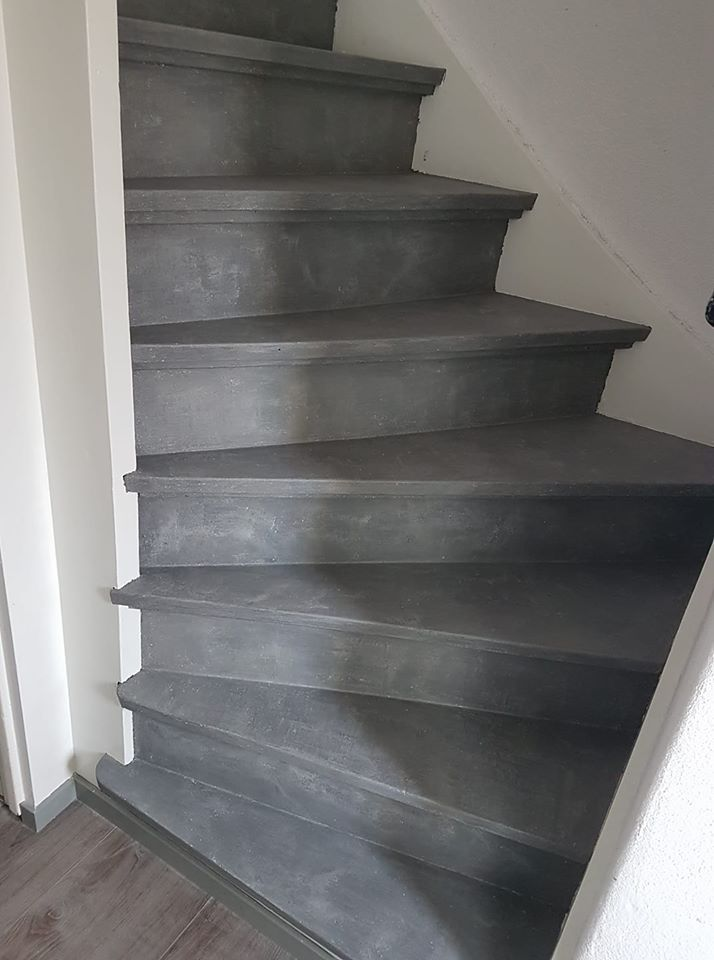 Basispakket betonlook verf voor een betonlook trap for Betonlook verf