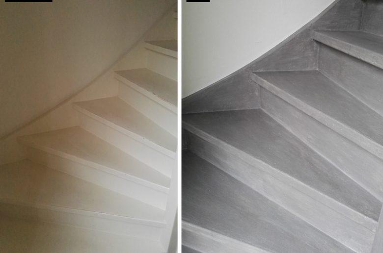 Voor-Na-trap-betonlook-diy