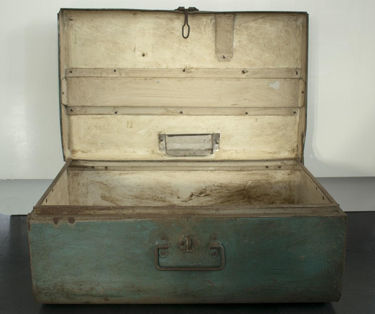 Goede Industriële Metalen Koffer / Kist - Turquoise - 56x23x35cm | My DF-51
