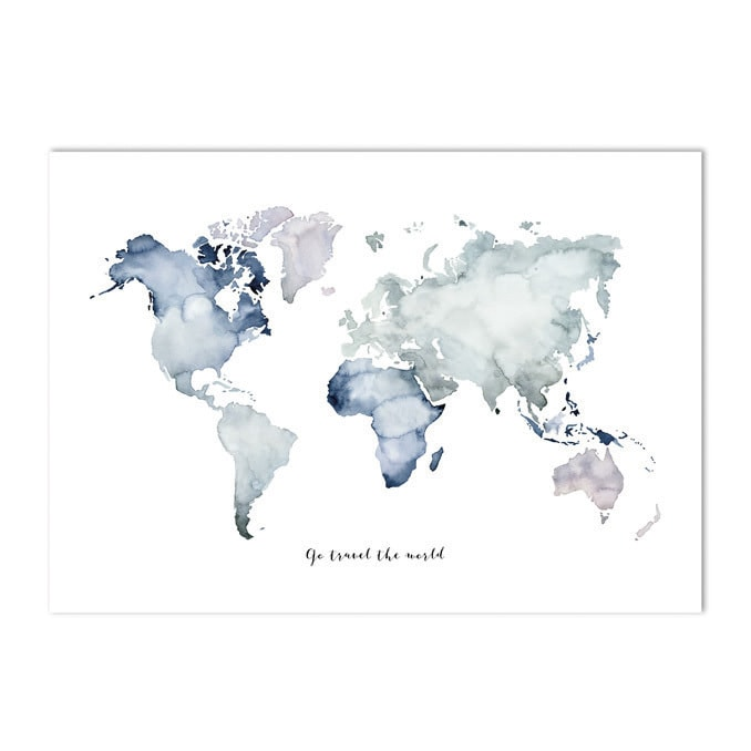 Poster-landkaart-kaart-landkaart-groen-botanisch-interieur-Leo_La_Douce_edition_summer