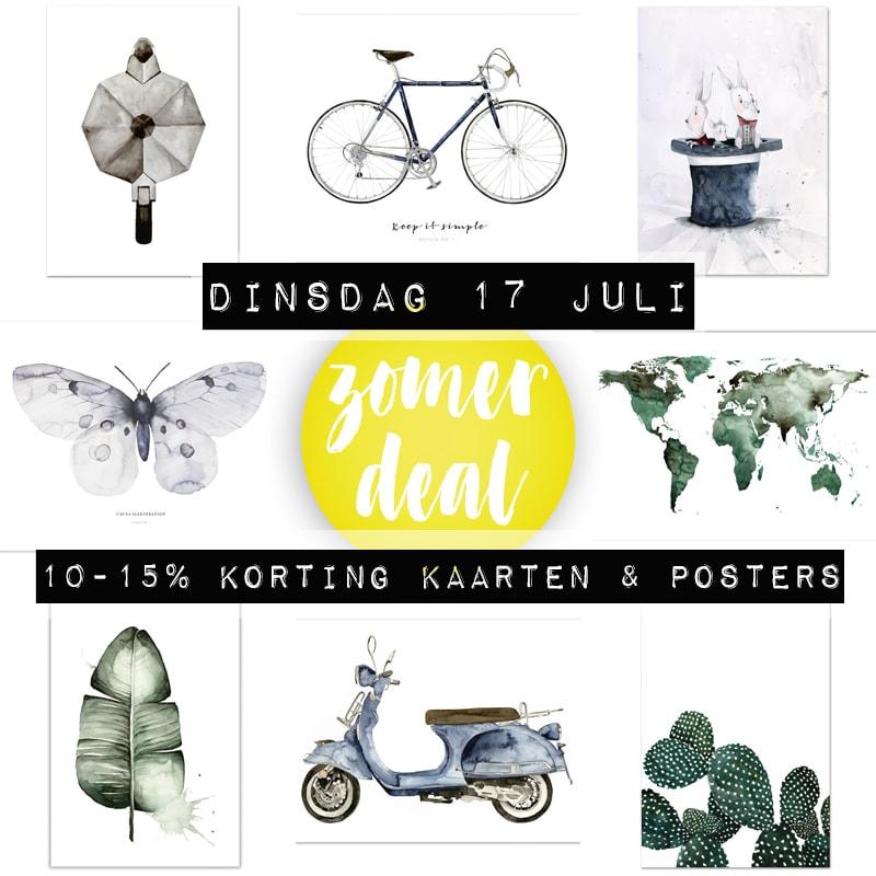 Zomerdeal-kaarten-posters-17-juli-2018