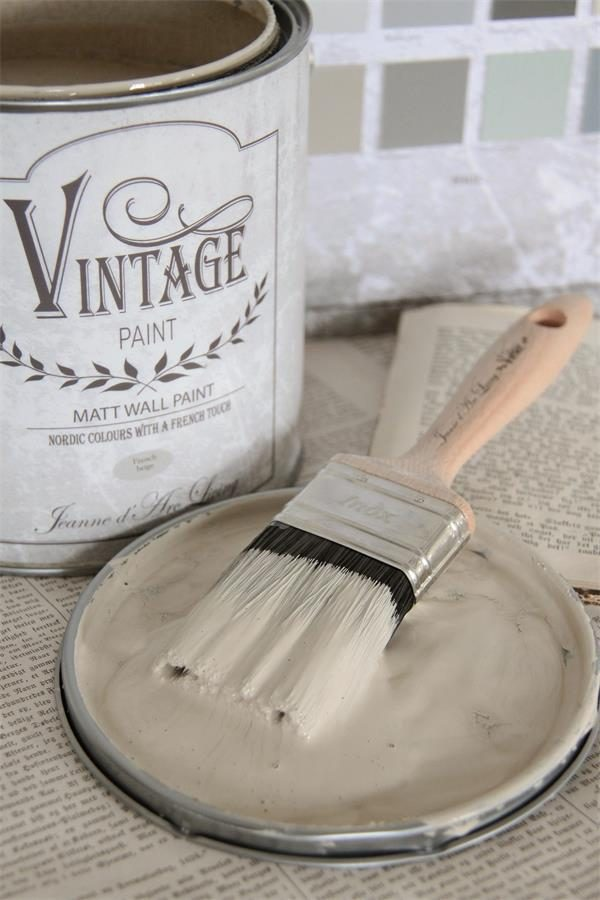 Vintage Paint - Beige Krijtverf Mat - French Beige - 2,5 liter