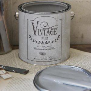 Vintage Paint - Grijze Krijtverf Mat - Old Grey - 2,5 liter