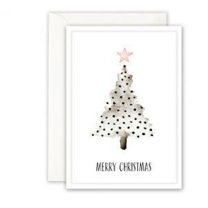 Botanische-posters-kaarten-botanisch-industrieel-interieur-Leo_La_Douce_edition_summer_kerstkaart-christmas-tree-dots