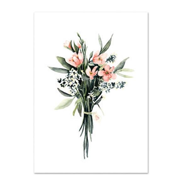 Botanische-posters-kaarten-botanisch-industrieel-interieur-Leo_La_Douce_bos-bloemen