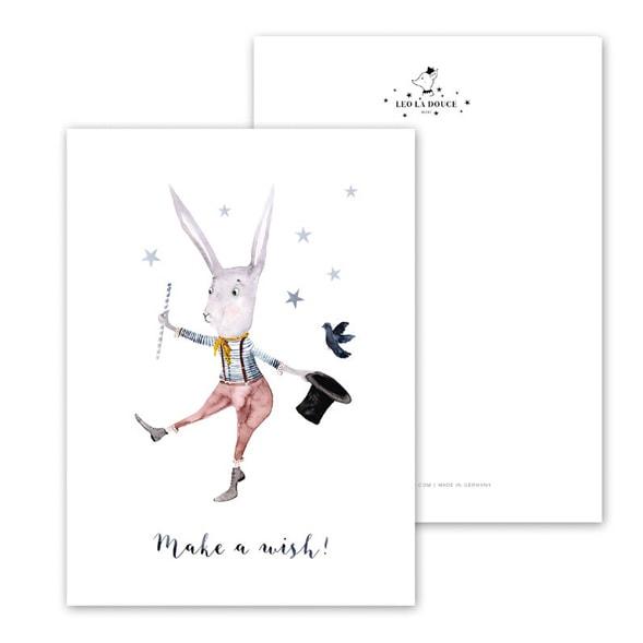 Botanische-posters-kaarten-botanisch-industrieel-interieur-Leo_La_Douce_kaart-kinderkamer-make-a-wish
