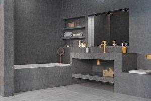 Muurverf Badkamer Betonlook : Betonlook badkamer & betonlook toilet inspiratie my industrial
