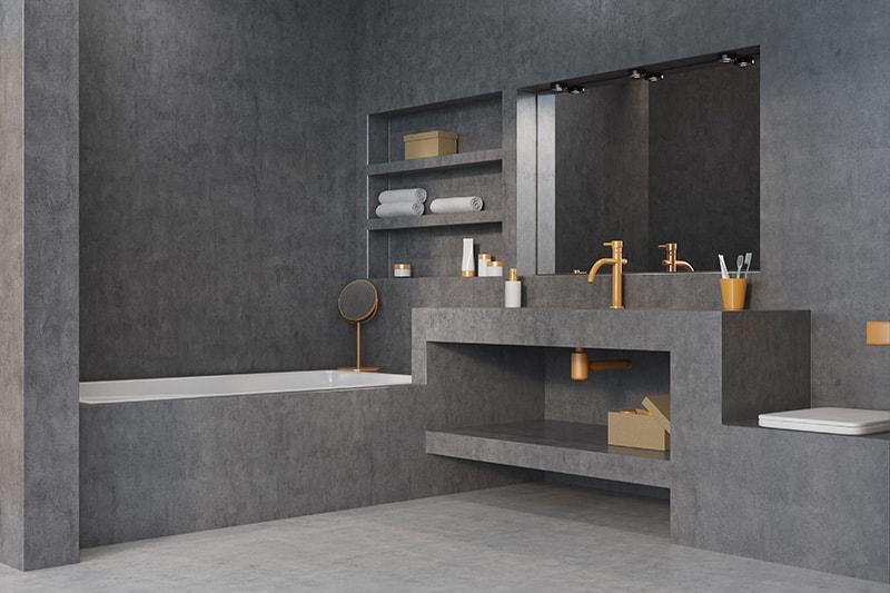 hoe maak je een betonlook badkamer? | my industrial interior