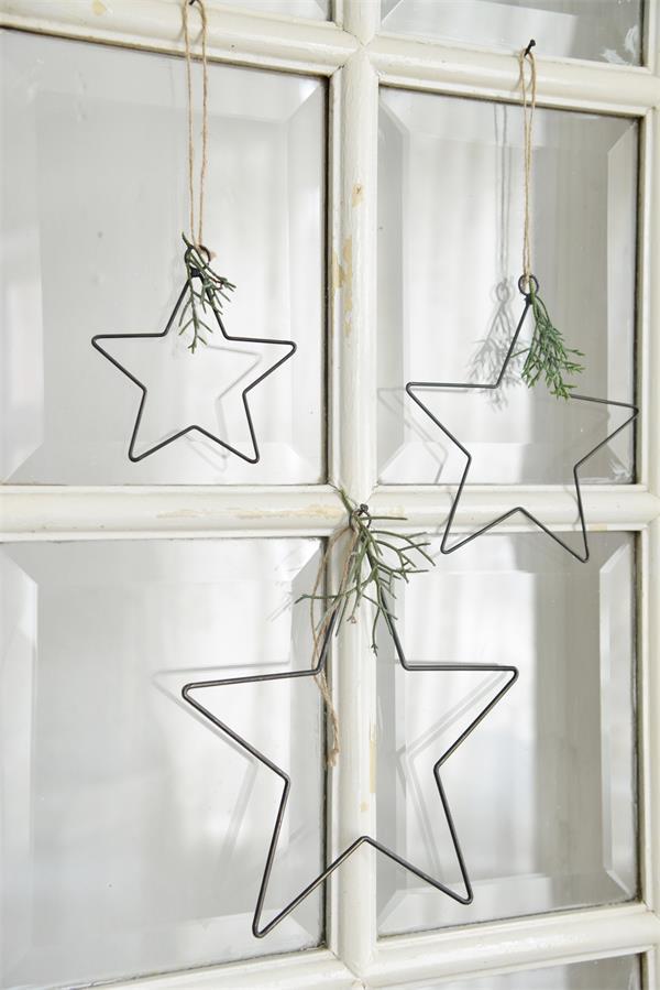 Metalen-kerstster-industriele-kerstdecoratie metalen woonaccessoires industriële woondecoratie