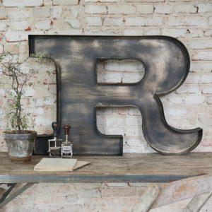 metalen letters metalen decoratie industriele decoratie