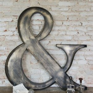 &-teken-metalen letters metalen decoratie industriele decoratie
