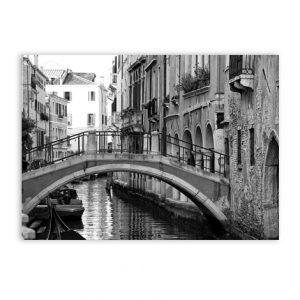 Zwart wit postkaart wanddecoratie