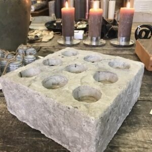 betonnen grijze waxinelicht houder
