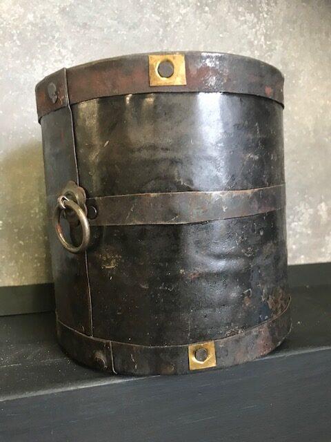 vintage metalen bin