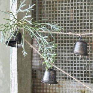 kerstbellen aan koord koper/bruin