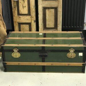 Metalen Vintage Kist- Olijf Groen