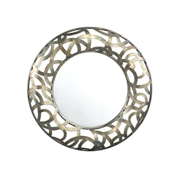 Dasis ronde spiegel metaal