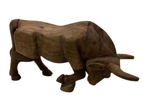 stier van massief hout